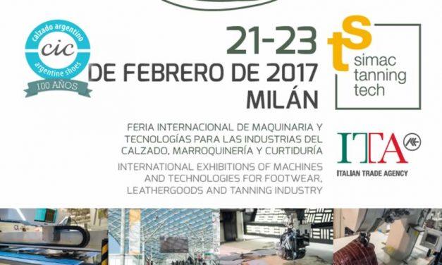 EXPOSICIÓN SIMAC&TANNINGTECH 2017 MÁQUINAS Y TECNOLOGÍA PARA EL CALZADO, MARROQUINERÍA Y CURTIDURÍA