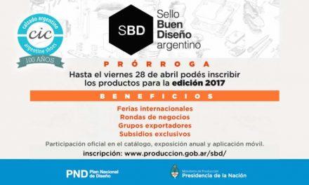 PRORROGA   Sello Buen Diseño argentino