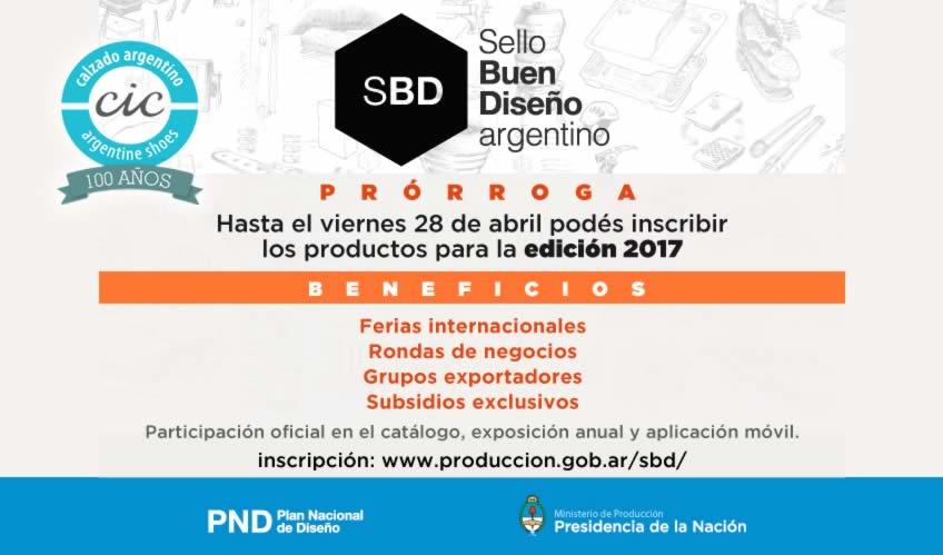 PRORROGA | Sello Buen Diseño argentino