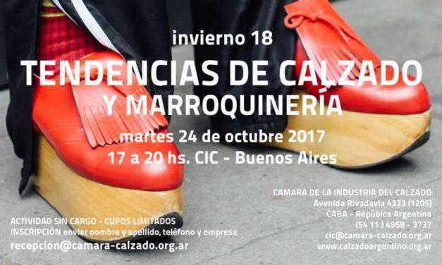 SEMINARIO TENDENCIAS DE CALZADO EN CIC/ INTI TEXTILES 24 Octubre 2017