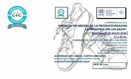 Seminario INTI – Técnicas de mejora de la productividad en la Industria del Calzado.