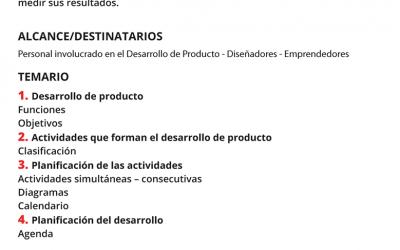 Planificación para el Desarrollo de Producto