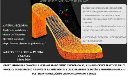 Curso de Modelado en Blender de Insumos y Diseños para la Industria del Calzado