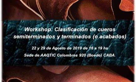 Workshop AAQTIC: Clasificación de cueros semiterminados y terminados